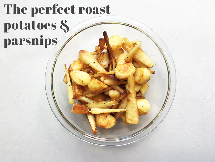 Perfect Christmas vegan roast potatoes and parsnips