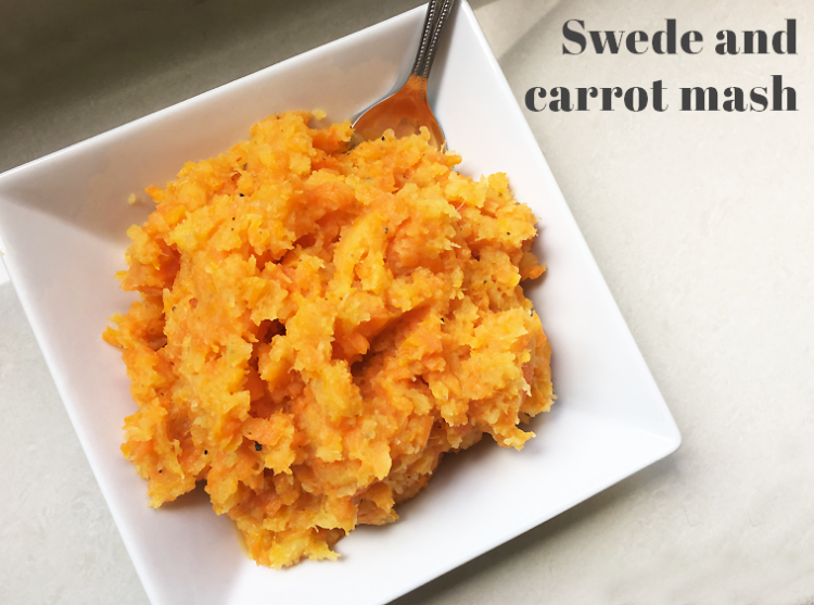 Vegan Christmas swede and carrot mash